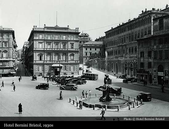Hotel Bernini Bristol 1874 Rome Historic Hotels Of The World Then Now