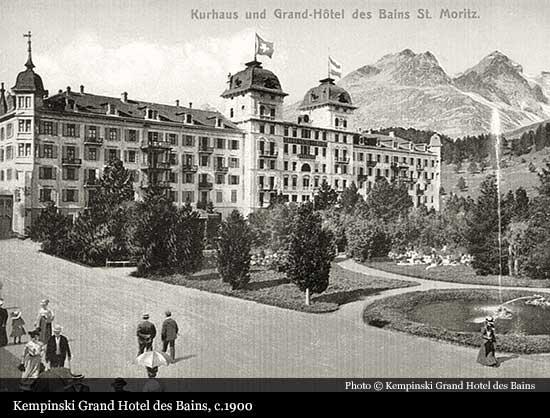 Kempinski Grand Hotel Des Bains 1864 St Moritz Historic Hotels Of The World Then Now