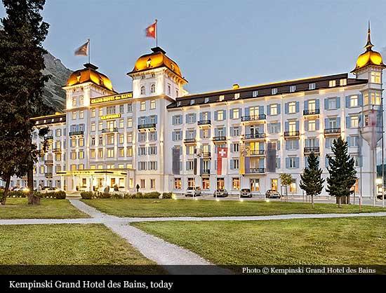 Kempinski grand hotel des bains 1864 st moritz for Grand hotel des bains 07
