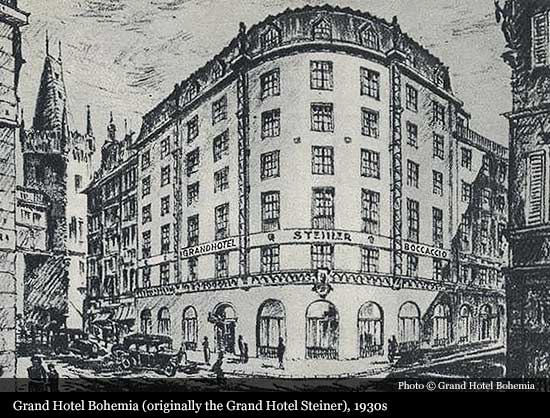Grand hotel bohemia 1927 prague historic hotels of for Grand hotel bohemia prague restaurant