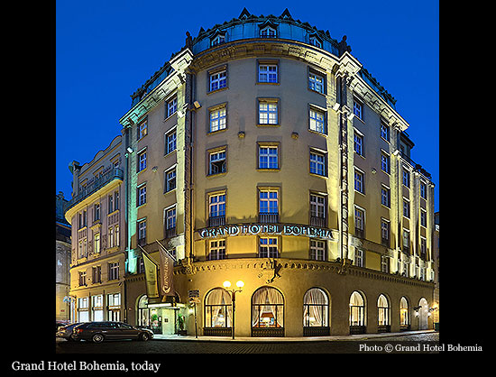 Grand Hotel Bohemia 1927 Prague Historic Hotels Of