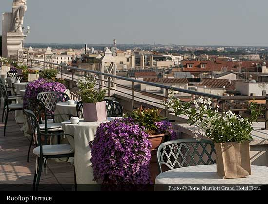 Rome Marriott Grand Hotel Flora 1907 Rome Historic Hotels Of The World Then Now