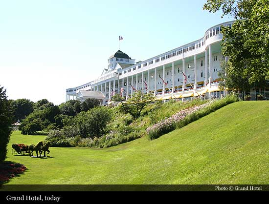 Grand Hotel 1887 Mackinac Island Historic Hotels Of The World Then Now