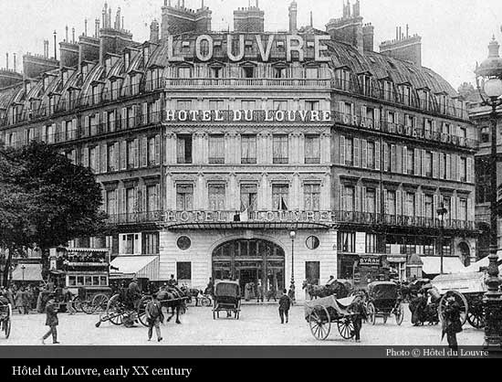 H tel du louvre a hyatt hotel 1855 paris historic for Hotel paris telephone