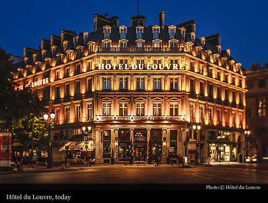 H tel du louvre a hyatt hotel 1855 paris historic for Paris hotel address