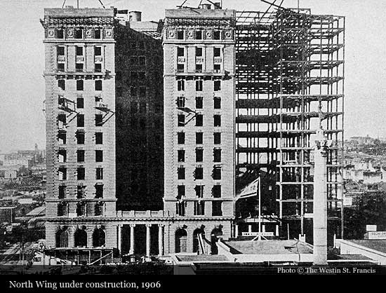 The Westin St Francis 1904 San Francisco Historic Hotels Of The World Then Now