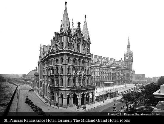St Pancras Renaissance Hotel 1873 London Historic Hotels Of The World Then Now