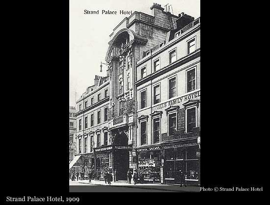 Image result for strand palace hotel history