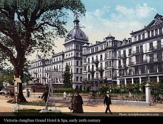 Victoria Jungfrau Grand Hotel Spa 1865 Interlaken Historic Hotels Of The World Then Now